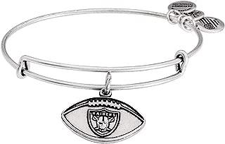 Alex and Ani Womens NFL Oakland Raiders Football Bangle