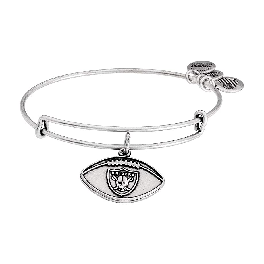 Alex and Ani Womens NFL Oakland Raiders Football Bangle
