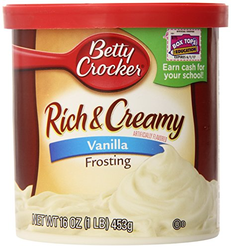 Betty Crocker Rich & Creamy Vanilla Frosting Kuchenglasur 453 gramm