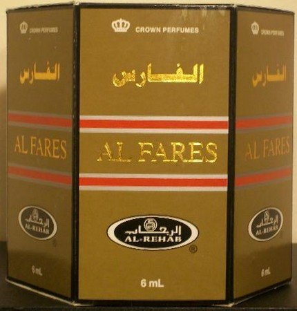 Al Fares - 6ml (.2oz) Roll-on Perfume Oil by Al-Rehab (Crown Perfumes) (Box of 6) by Al-Rehab
