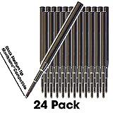Jaymo - 24 - Schwarz Montblanc Kompatible Kugelschreibermine - Glattes Schreiben deutscher Tinte mit mittlerer .7 mm Spitze