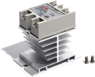 Solid State Relay and Heat Sink SSR 40amp 40DA 3-32V DC / 24-380V AC