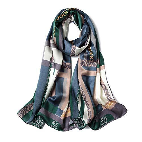 TaoRan zijden sjaal dames Mme. Israel en Amerika bedrukken zijden sjaal met dubbele gebruiksdoeleinden.