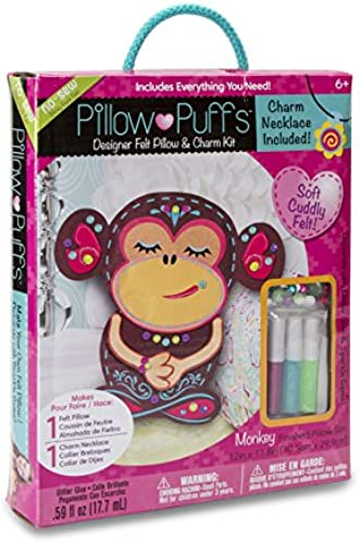 Darice PUF-133 Pillow Kits, Big, Monkey Design