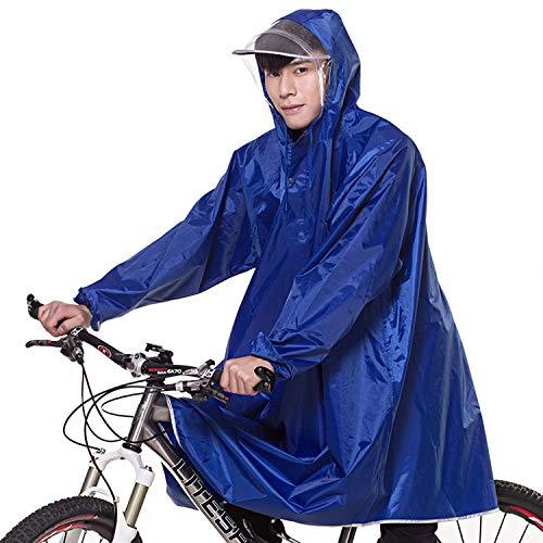 7VSTOHS Outdoor Lightweight Waterproof Rain Poncho Cycling Motorcycle Rain Cape Outdoor Work Rain Poncho Raincoat with Wide Brim Hood