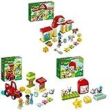LEGO10951DuploEstabloconPonis,JuguetedeconstrucciónparaNiñosdea Partir de 2añosconFiguritasdeJinetesyCaballos + 10950TractoryAnimalesdelaGranja + 10949GranjayAnimales
