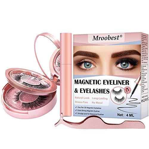 Magnetische Wimpern, Magnetic Eyeliner, Magnetische Wimpern Eyeliner, Wasserdichter, Langlebiger...