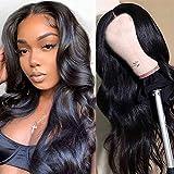 Ruiyu Pelucas brasileñas de cabello humano Pelucas onduladas del cuerpo Pelucas delanteras de encaje Pelucas de cabello humano de para mujeres Color natural (22 inch)