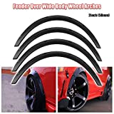 Ruien Universal Fender Flares Over Wide Body Wheel Arches 4pcs 2inch (50mm)