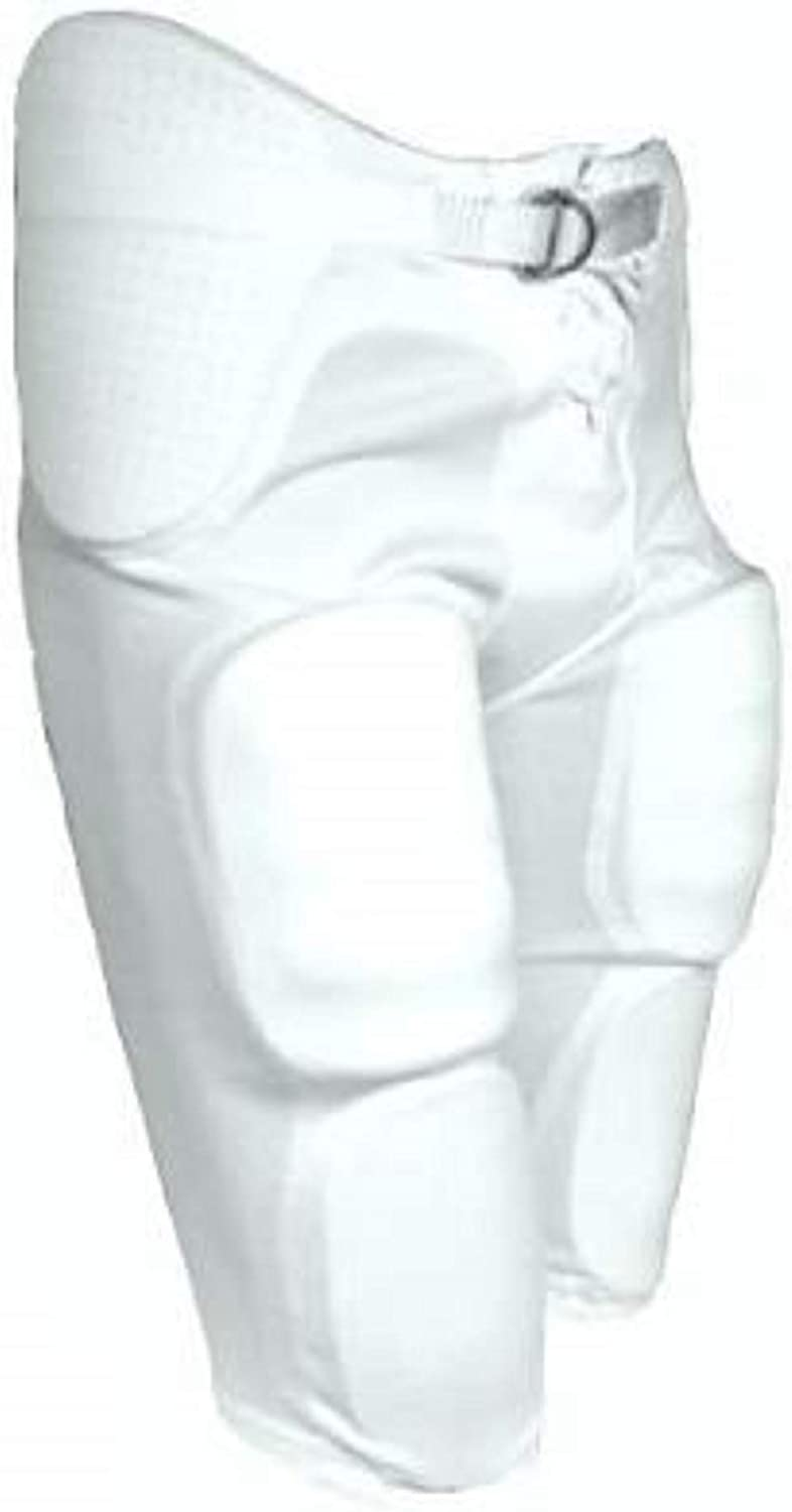 Waist 26 White Large tag Youth Football Game Pant with Integrated Pads