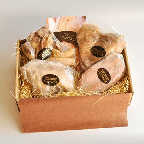 ほろほろ鳥燻製 詰合せセット(半羽分) 岩手県産 鶏肉 ほろほろ鳥 石黒農場 生産者直送 ホロホロチョウ薫製