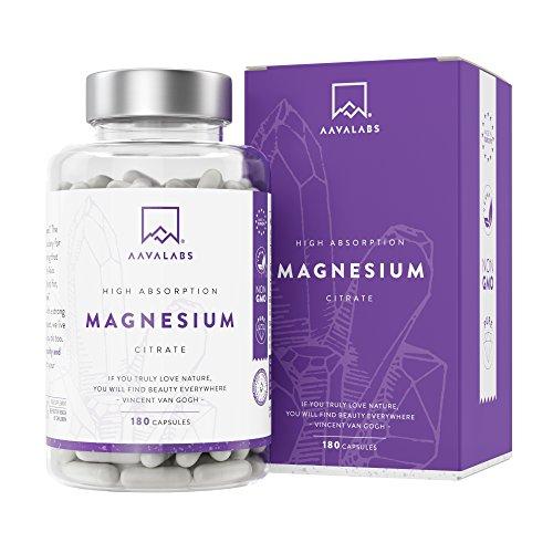 Magnesiumcitrat [ 448mg ] elementares Magnesium pro Tagesdosis - VERGLEICHSSIEGER 2020-180 Kapseln - Nordische Reinheit ohne unerwünschte Zusätze