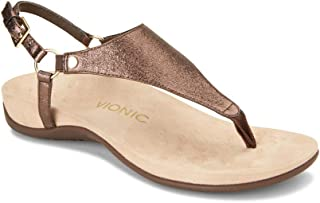53a0f457d16a Vionic Women's Rest Kirra Backstrap Sandal - Ladies Sandals with Concealed  Orthotic Arch Support