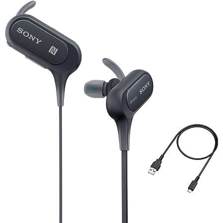 Sony - Auriculares Bluetooth con micrófono y micrófono, IPX4 a Prueba de Salpicaduras, para Gimnasio, Entrenamiento, hasta 8,5 Horas, Color Negro