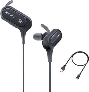 Sony - Auriculares Bluetooth con micrófono y micrófono, IPX4 a Prueba de Salpicaduras, para Gimnasio, Entrenamiento, hasta...