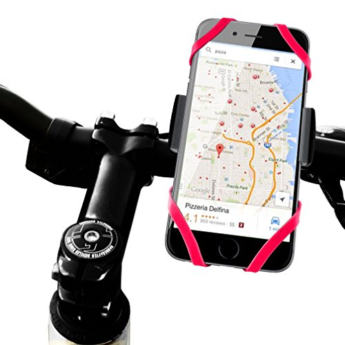 Bike Mount Bicycle Holder, XNER Universal Rubber Strap Cradle Holder for iPhone, Samsung, Smartphone, GPS and Other Devices, 360 Degrees Rotatable