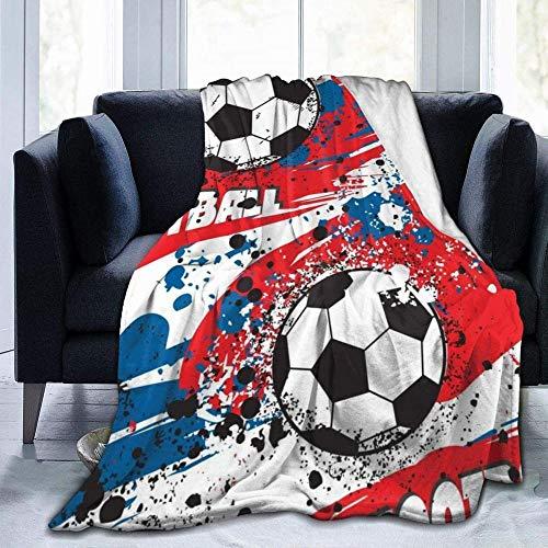 GHYUIPP Couvertures et Plaids,Style de Conception Unique de Mode élégante Flanelle + 100% Fibre Polyester Cool Football Street Fashion Blanket Lightweight Flanel Daycare Nap KidsThrowanket-50x40Inch