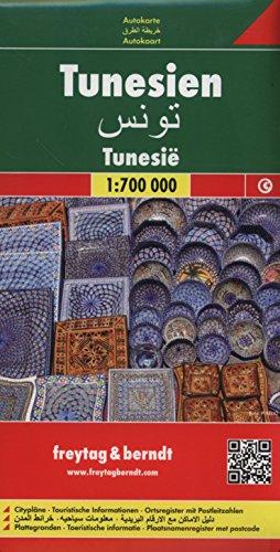 Túnez, mapa de carreteras. Escala 1:700.000. Freytag & Berndt.: Wegenkaart 1:700 000 (Auto karte)