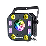 Stage Lights DJ Lights, WorldLite LED Effect Light 5 in 1 with Magic Ball, LED Par Pattern Lights and LED Strobe/UV, Great for Stage & DJ Lighting, Wedding Church Club Disco Party Lighting