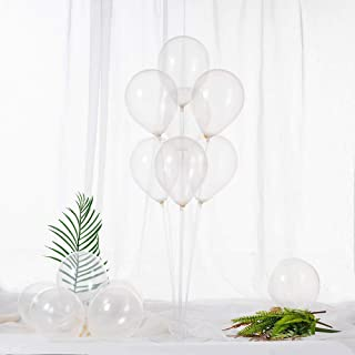 ZOOYOO 5 Inch Clear Balloons Mini Transparent Latex Balloons Party Decorations Supplies,Pack of 100