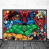 LGXINGLIyidian Hulk Thor Joker Spider Man Marvel Helden