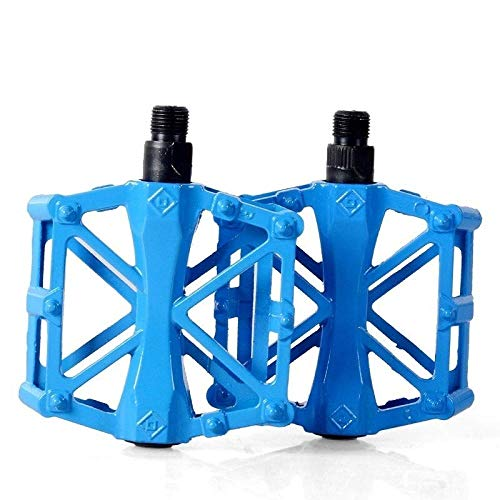 Riding accessories mountain bike bearing pedal mountain bike all aluminum alloy foot pedal-X pedal blue