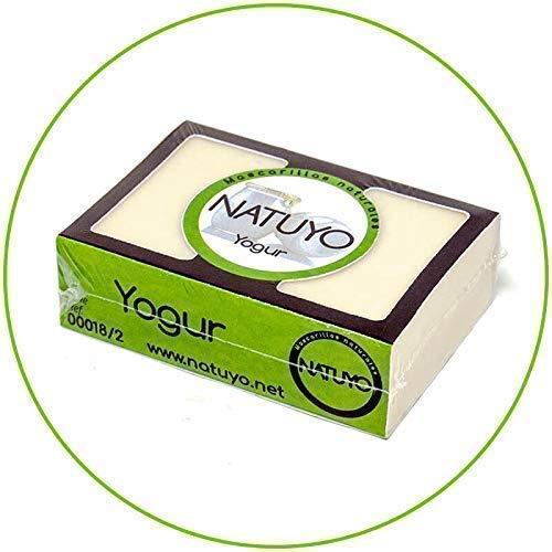 - Seifenmaske NATUYO Feuchtigkeitsspendende JOGHURT.- Verbessert das Erscheinungsbild der Haut, sorgt für Leuchtkraft, Anti-Aging, beugt Akne vor und reduziert sie. Ohne SLS-Sulfate.