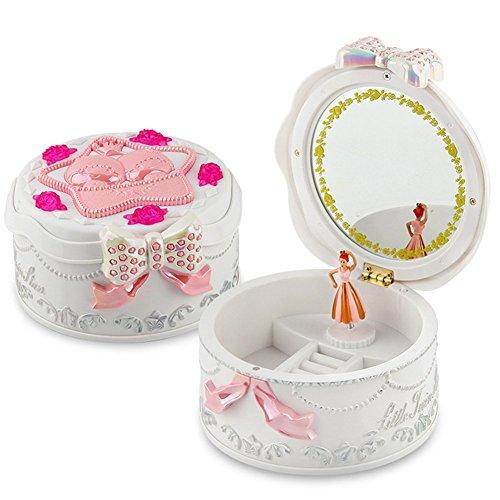Schmuckkästchen Mädchen Kinder-Schmuckdose Spieldosen Ballerina Spieluhr für Kinder mit Spiegel