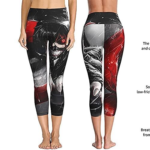 ArcherWlh Leggings Mujer,Anime periférico impresión Digital 3D Cuatro Agujas Seis líneas Mujeres Europeas y Americanas Ropa de Yoga Pantalones Ajustados-4#_L