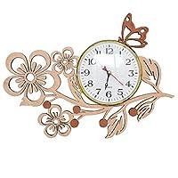 GIFT GARDEN 掛け時計 木製 花 桜 サクラ 蝶 かわいい ウォールクロック インテリア お祝い 記念日 贈り物 プレゼントB161108