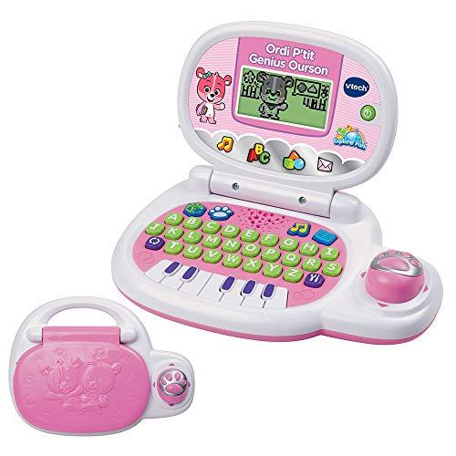 Vtech - 139555 - Jeu électronique - Ordinateur P tit - Genius Ourson - Rose - Version FR
