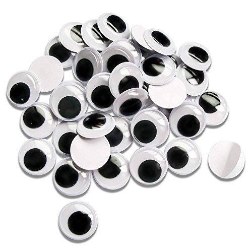 1 Inch Plastic Wiggle Googly Eyes