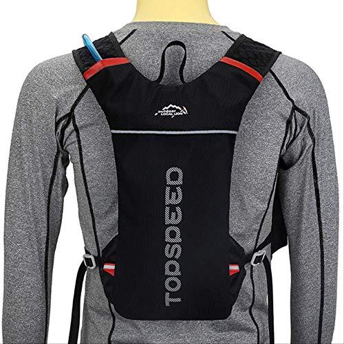 Generic Brands Sac à dos multifonctionnel pour course à pied/cyclisme 5 l + 1 l sac à eau Combinaison léger et étanche Sac à dos de voyage pliable