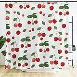 Ofat Home Design Duschvorhang mit Ösen, 17,8 x 180 cm, wasserdicht, verdickt, Blickdicht Cherry