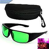 Grow Room Glasses Lichtschutzbrille für LED Pflanzenlampe Grow Lampe Brille I&R und U&V-Schutzbrille mit Schutztasche Hardcase Brillenetui Goggles