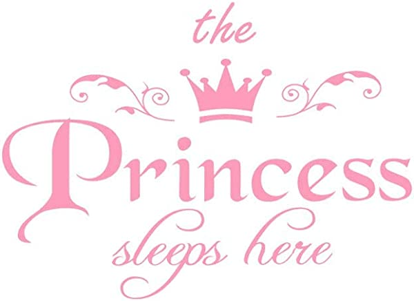 The Princess Wall Decals Removable DIY Art Decor Wall Stickers Murals For Living Room TV Background Kids Girls Rooms Bedroom Decoration Pink 45x32 5cm