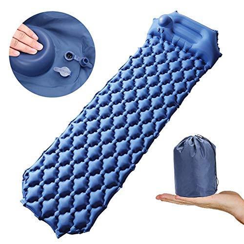 niyin204 Self-Inflating Camping Mat, Compact Portable Camping Mat with Storage Bag, Ultralight Single Inflatable Hiking Mat for Hiking, Camping, Hiking
