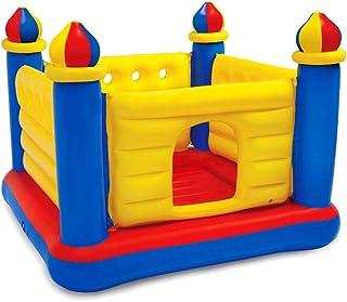 Castillos hinchables Cama elástica Cama elástica para niños con Red Protectora casa Plegable Castillo Inflable paraíso Cama de Rebote Interior Juguetes Carga 54 kg Regalo