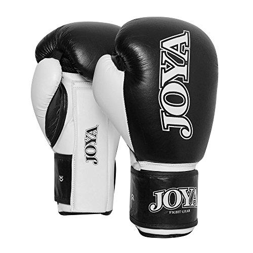 JOYA Men\'s 0050 Work out-PU-Guanti da Boxe, in Pelle, Colore: Nero/Bianco, 16 g