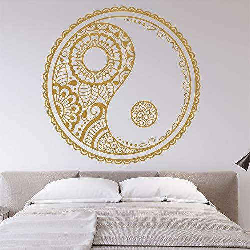 mlpnko Wasserdichtes Tapetenpapier Buddha, Schlafzimmerdekoration Kopfteil Vinyl, Wandaufkleber DIY wasserdicht abnehmbar -57x57cm