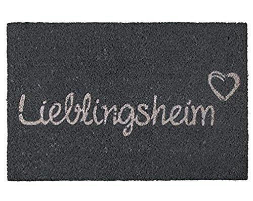 Bavaria Home Style Collection Kokos Fußabtreter Außenbereich und Fußmatte Innenbereich I Rutschfester Teppich I Schmutzfangmatte waschbar I Fußmatte 40 x 60 cm groß (Lieblingsheim)