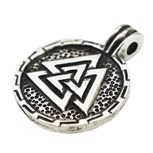 Asgard Wikinger Anhänger - Runder Valknut, Hrungnirs Herz oder Liebesschleife; handgefertigt aus Hartzinn (Pewter)