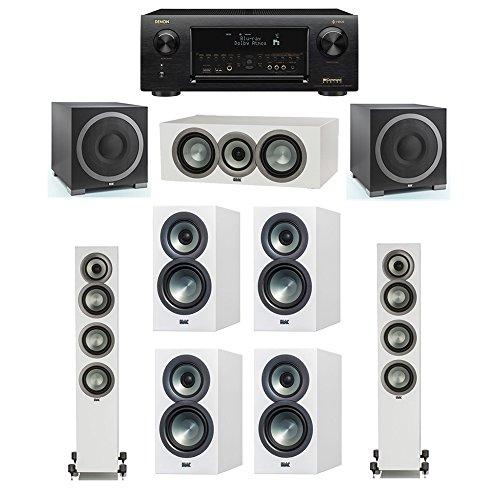 Best Price ELAC Uni-Fi Slim White 7.2 System with 2 ELAC FS-U5 Floorstanding Speakers, 1 ELAC CC-U5 ...