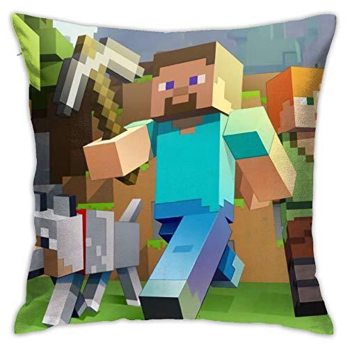 Min-Ecraft Dekorativer Kissenbezug für Zuhause, Sofa, Bett, Stuhl, Couch, 45,7 x 45,7 cm