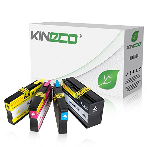 4 Kineco Tintenpatronen kompatibel zu HP 950XL/951XL für HP Officejet Pro 8610 8620 e-All-in-One 8100 ePrinter 276dw 251dw - CN045AE CN046AE CN047AE CN048AE - Schwarz 83ml Color je 30ml