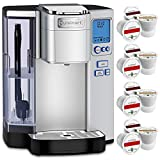 Cuisinart Premium Single Serve Coffeemaker (SS-10) with 12 Bonus K-Cup Sample Pack