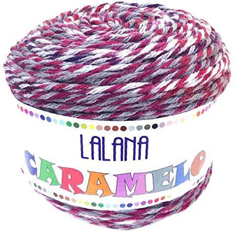 Hilo de Acrilico Ovillo de Lana para Tejer Crochet Ganchillo o Punto Torrijo CARAMELO 150g (1 unidad *150g) | MULTICOLOR 2653