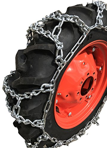 TireChain.com 11.2-24, 11.2 24 Duo Grip Tractor V-BAR Tire Chains Set of 2
