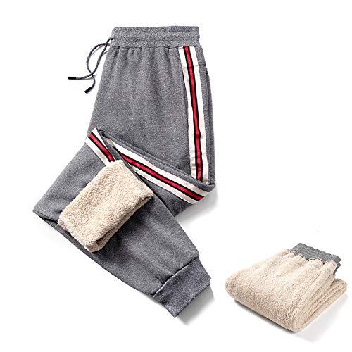 Aotorr Homme Pantalon Jogging Rayure Tricolores Casual Pantalon de Survêtement Slim Fit Gris XL