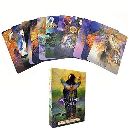 UYIDE 48 Englische Oracle-Karten, Sacred Erth Oracle, Neue Anleitung Für Brettspiele in Herausfordernden Zeiten
